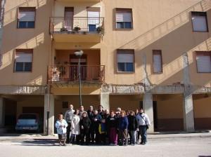 Gruppo di persone senza casa