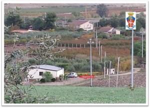 Foto di una  villetta ripresa dai Carabinieri durante un servizio di o.c.p.