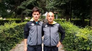 Filippo Tavormina con il suo preparatore Totò Giardina