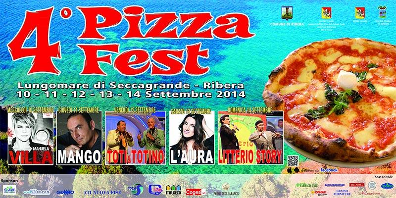 4° Pizza Fest - Seccagrande dal 10 al 14 settembre
