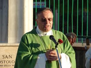 Monsignor Francesco Montenegro a Ribera, durante l'inaugurazione del Parco Paolino avvenuta nel 2009