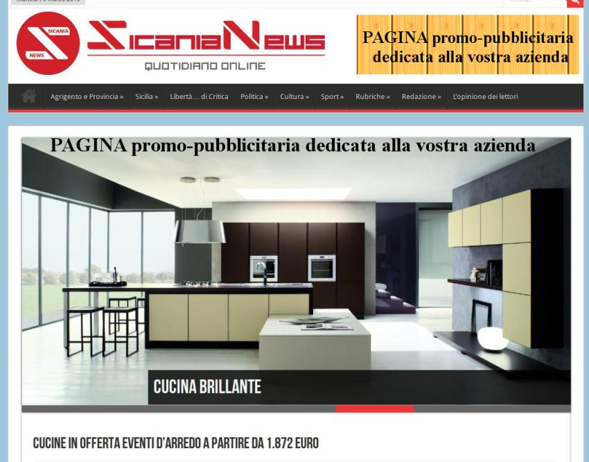 pagina promozionale pubblicitaria