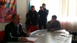 Il segretario regionale Uil Pensionati Sicilia Antonino Toscano durante un incontro con i giornalisti