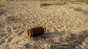 Bombola sulla spiaggia