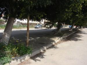 Marciapiedi sulla via Canova