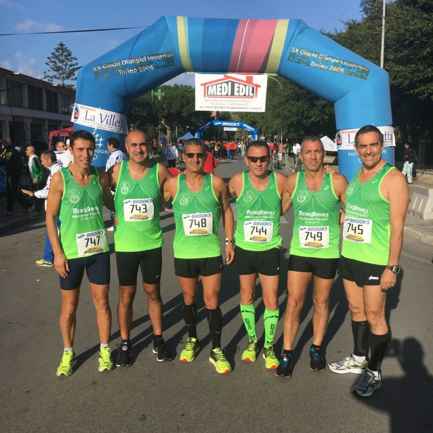 Gela prima della partenza da sinistra: Fabrizio Marchese, Enea Bonsangue, Salvatore Tavormina, Vincenzo Galletta, Giovanni Trovato, Calogero Geraci;