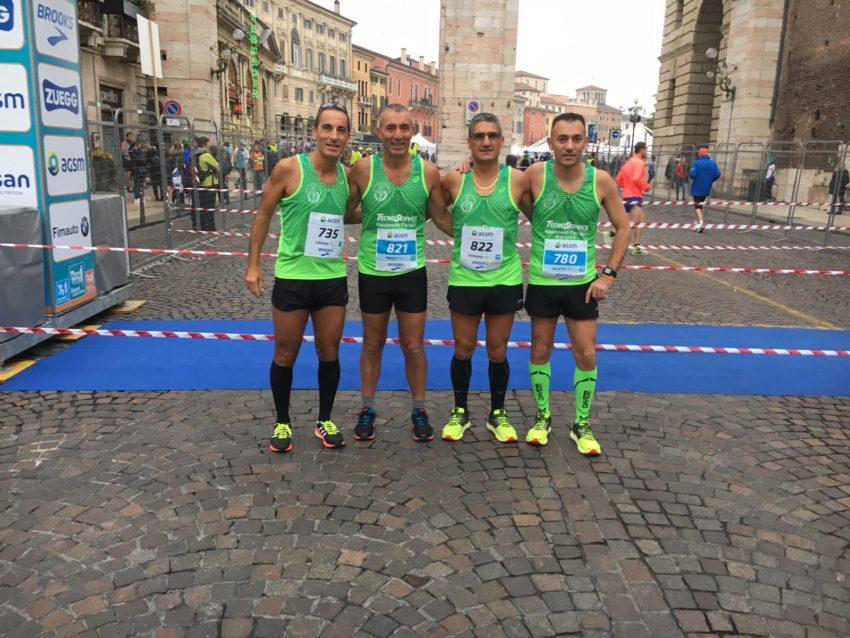 FOTO prima della partenza da sinistra: Pietro Giardina, Giovanni Trovato, Salvatore Tavormina, Vincenzo Galletta.